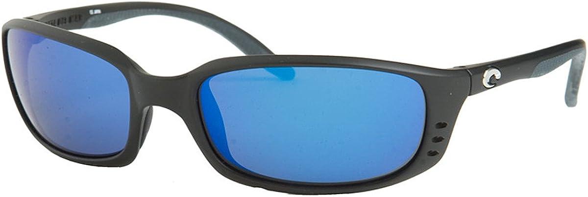 Costa Brine 580G Polarized Sunglasses (Matte Black/Blue Mirror)