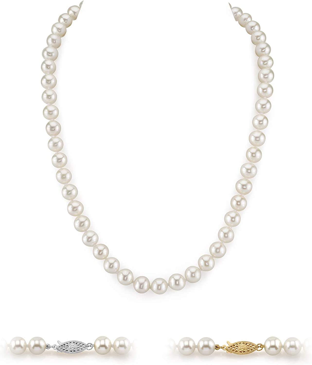 White Freshwater Cultured Pearl Max 52% OFF Necklace for Le Inch Max 86% OFF in 20 Women