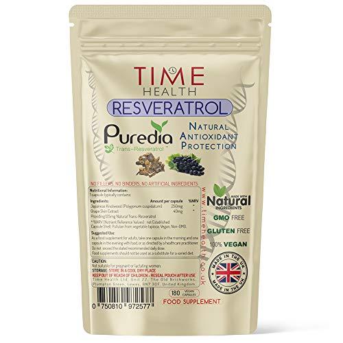 Time Health | Trans-resveratrolextract | 180 capsules (3 maanden) | Natuurlijk