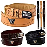 VELO Weight Lifting 4' Cow Hide Leather Gym Belt Back Support Strap Power Training Exercise Bodybuilding Belts...