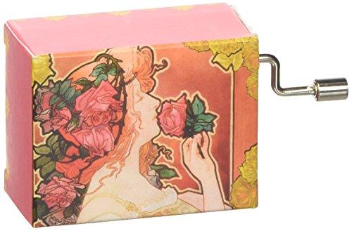 Fridolin 58275 Spieluhr La Vie en Rose / Jugendstil, rot