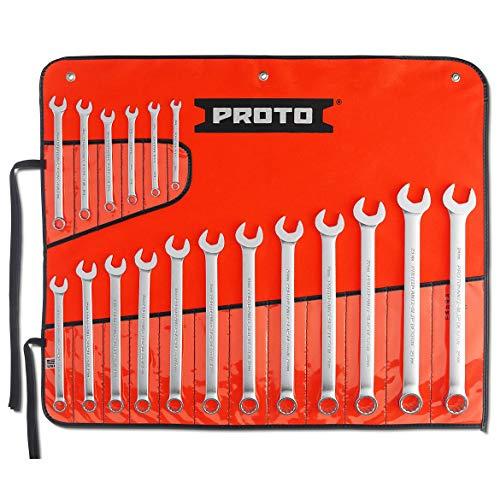 Proto - 18Piece Satin Metric Combination ASD Wrench Set - 12 Pt. (J1200R-MASD)