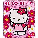 Hello Kitty Sanrio Plush Throw Blanket : Flower