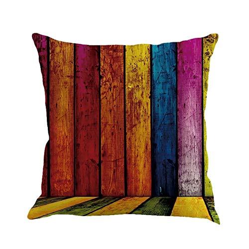 HUAJIANGHU Almohada 45 * 45 Geometría Pintura Almohadas Decorativas De Lino Throw Pillow Almohada (Color : D, Size : 45x45cm)