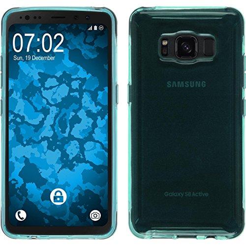 PhoneNatic Case kompatibel mit Samsung Galaxy S8 Active - türkis Silikon Hülle transparent Cover