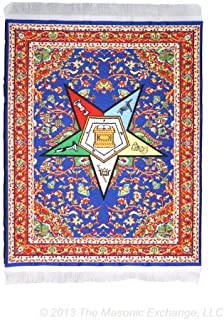 """Order of The Eastern Star Carpet Masonic Mouse Pad - 10"""" x 7"""""""