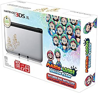 Nintendo 3DS XL, Silver - Mario & Luigi Dream team Limited Edition