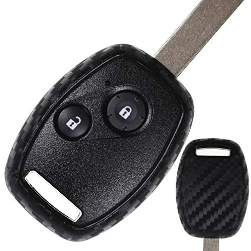 Funda de carbono suave para llave de coche para Honda CR-V III Civic Accord VII Jazz II FR-V Pilot H
