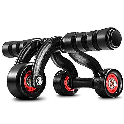 Nvshiyk Ab Wheel Roller 3-Wheel Triangular Ab Roller Fitness Equipment Heavy Duty Abdominal Carver Abs Trainer Outdoor Indoor for Fitness and Muscle Training