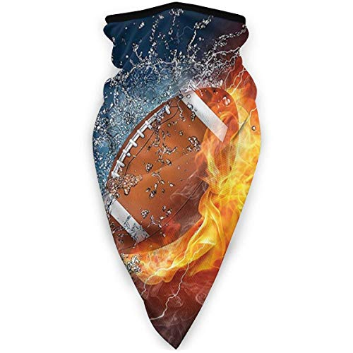 Not Applicable Neck Scarf,Football On Fire Water Flame Splashing Fiber For Workout Head Scarf,24x52cm