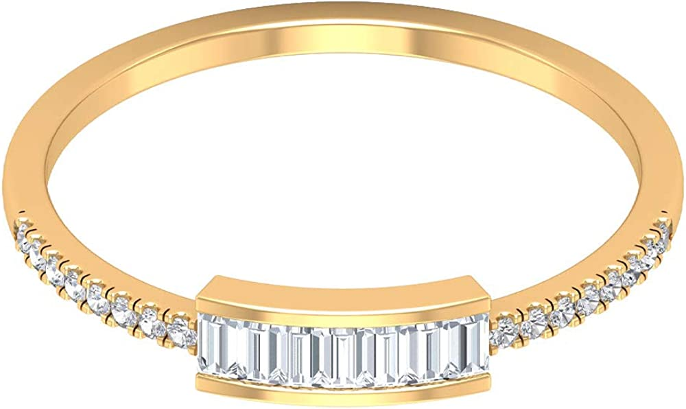Sales 1 4 CT Diamond Stackable Rings New product 1.25X2.2 Women C Baguette for MM