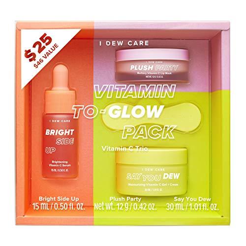 I DEW CARE Vitamin To-Glow Pack Skin Care Set | Brightening Starter Kit | Korean Skincare, Vegan, Cruelty-free, Paraben-free | Birthday gifts for friends female