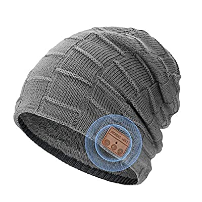 Bluetooth Beanie Hat Gifts for Men Teens, Unise...
