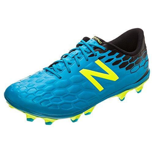 New Balance Herren Visaro 2.0 Mid Level FG h Fußballschuhe, Blau (blau/schwarz/gelb blau/schwarz), 44 EU