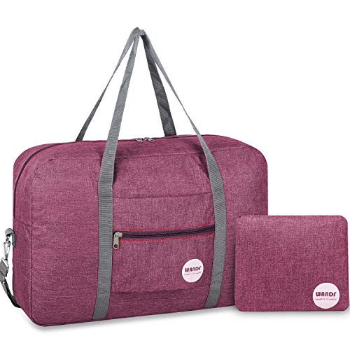 WANDF Foldable Travel Duffel Bag Super Lightweight for...