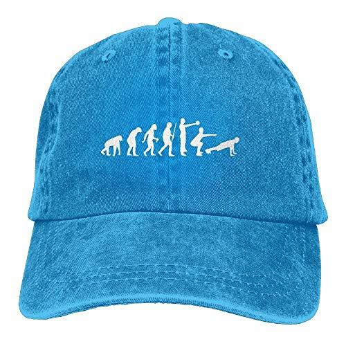 Unisex Baseball Cap Baumwolle Denim Hut Evolution Kettlebell Swing Squat Burpee Einstellbare Snapback Solid Hat wunderschöne 7378