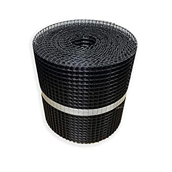 """Wire Mesh Screen for Solar Panel Protection 100' X 12"""" X 1/2"""" Black PVC Coated Critter Guard for Bird/Squirrel Deterrent Pest Proof Your Solar Panels - Fastener Clips Sold Separately"""