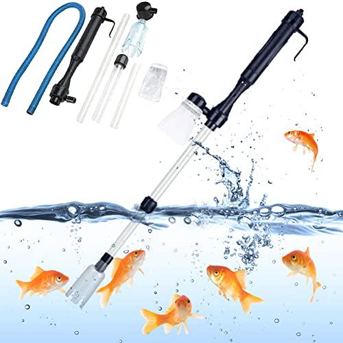 Aspirateur Électrique pour Aquarium, Nettoyeur Automatique de Gravier pour Aquariophilie, Kit de Nettoyage Sable pour Aquarium Moyen et Grand, Changez l'eau, Nettoyer Le Gravier