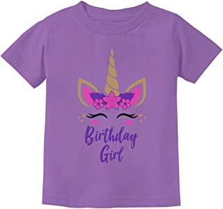 Birthday Girl Unicorn Outfit Gifts for Girls' Toddler Kids T-Shirt