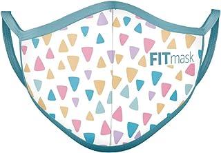 FITmask Mascarilla Reutilizable Lavable Certificada Tejido Hidrófugo Made in Spain Colour Triangles - Niño Orejera