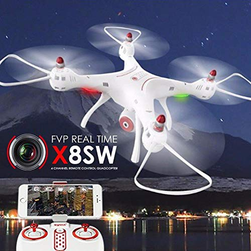 SYMA X8SW 2.4G 4CH FPV WIF RC Quadcopter Drone with 1MP Camera + SD C