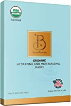BeautiPromise USDA Certified Organic Facial Sheet Face Mask, 6 Pack (Hydrating and Moisturizing)