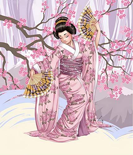Interesante Rompecabezas Adulto Puzzle 1000 Piezas   Rompecabezas de Madera   Patrón de Geisha Japonesa