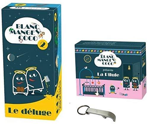 Pack de juego blanco Comger Coco 2 ' Le Desluge + extensión de la píldora + 1 abridor Blumie