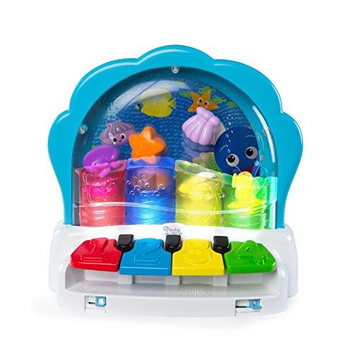 Baby Einstein, Pop & Glow Piano, Klavier Musikspielzeug mit Lichtern, zum Spielen Eigener Lieder als auch zum Abspielen klassischer Melodien