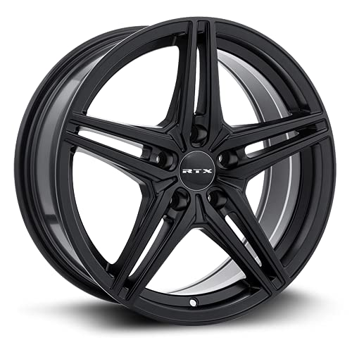 RTX Bern Alloy Wheel/Rim Size 15x6.5 Bolt Pattern 4x100 Offset 38 Center Bore 73.1 Satin Black Center Caps Included Lug Nuts NOT Included (Rim Priced Individually)