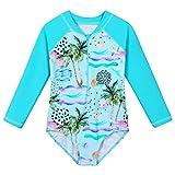ZNYUNE Costume intero a maniche lunghe per bambine dai 4 ai 12 anni Ciancocotree 10-11 anni