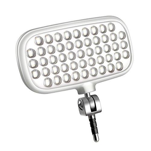 Metz mecalight LED-72 smart in Weiß   LED-Videolicht für Smartphones & Tablets mit 51 LEDs und 72 LUX, eigenen Lithium-Polymer-Akku, 3 Modi, für Fotos oder Videos geeignet etc