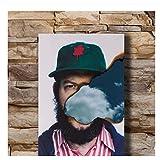 QWGYKR Bon Iver Rap Music Singer Star Poster Kunst