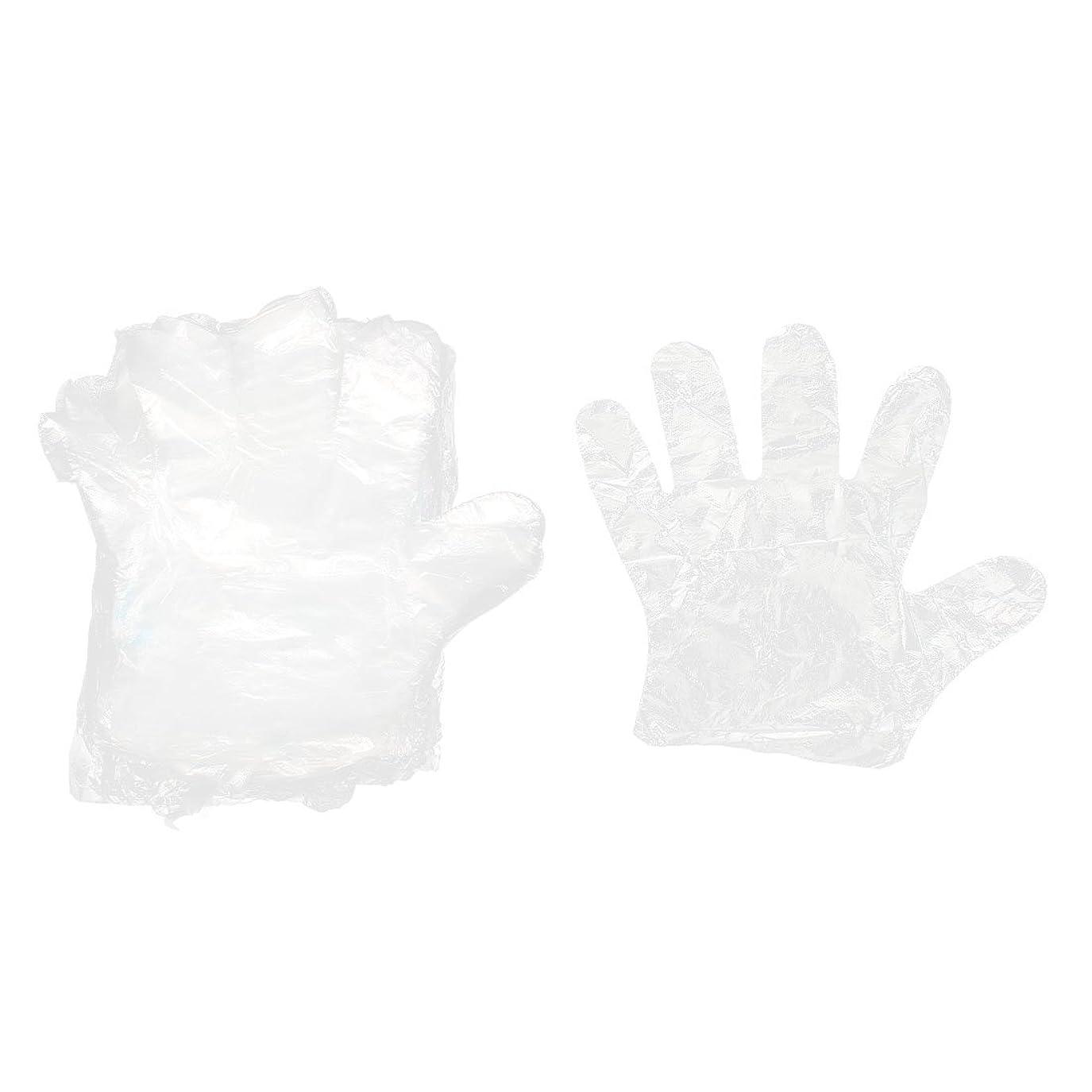内側切り刻む地上でuxcell 使い捨て手袋 レストラン 家キッチン 食べ物提供 透明 25 x 23cm 140個入り