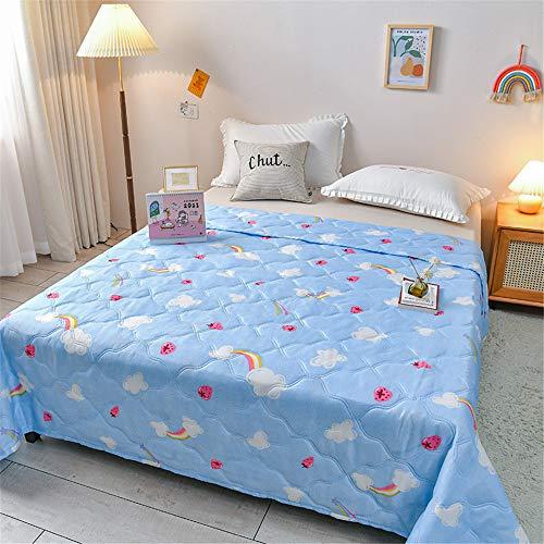 Chickwin Tagesdecke für Einzelbett Mädchen Teenager Tagesdecke Steppdecke Sofaüberwurf Wattiert & Gesteppt Bettüberwurf Kuscheldecke Decke Überwurf Überdecke (Regenbogen,150x200cm)