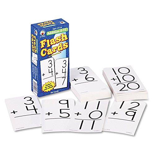 Carson Dellosa Flash Cards, Addition Facts 0-12, 3 x 6 Inches, 94/Pack (CDPCD3928)
