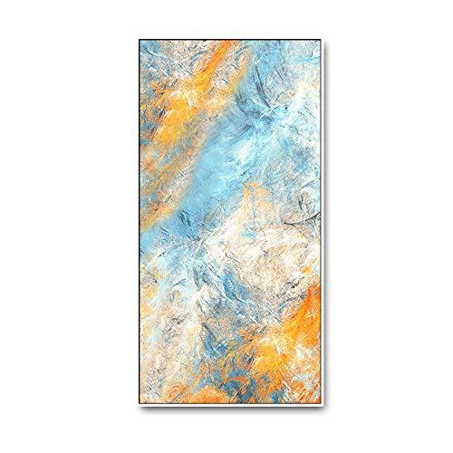 GJHT Poster & Drucke Wohnzimmer Schlafzimmer Halle Büro Frische Look Farbe Abstrakte Malerei Drucke Wand Kunstwerke Bilder Für Kinderzimmerdekor (Color : A, Size : 70x140cm)
