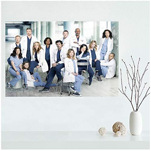 Sanwooden Grey's Anatomy Leinwand Malerei Wandkunst Poster für Wohnzimmer Home Decor Geschenk Artwork Dekoration -70x100cm No Frame