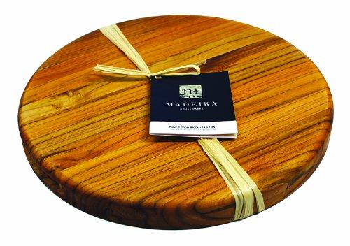 Madeira Cutting Board and Chop Block, Teak Edge-Grain, 14