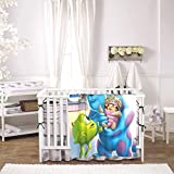 Monsters Pretty Inc Baby Blanket Unisex Wrap Soft Neutral Receiving Blanket Home Ultra Soft Toddler Blanket 30 X 40 Inches