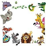 DEKOSH Kids Animal Wall Stickers | Fantasy Jungle Theme Baby Nursery Wall Sticker