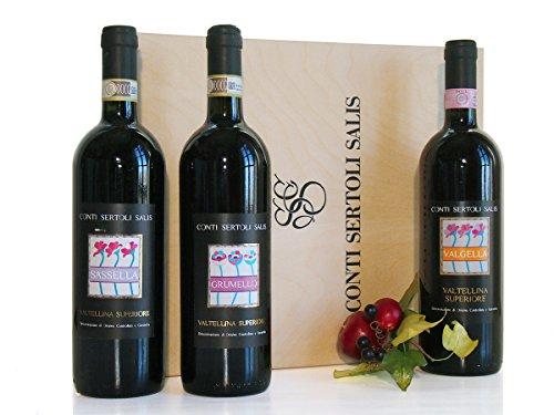 Grumello Valgella Sassella il Nebbiolo della Valtellina - Regalo Vini di Qualità - cod 42a