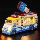 BRIKSMAX Kit de iluminación LED Lego City Camion de Helados - Compatible con Lego 60253 Building Blocks Model- No incluir el Conjunto de Lego