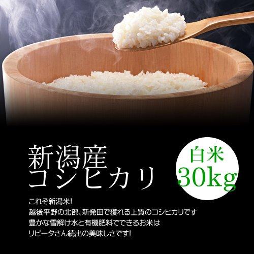 【お歳暮・冬ギフト】新潟産コシヒカリ 白米(精米) 30kg(10kg×3袋)/冷めても美味しい新潟米