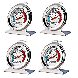 Image of 4 Pack Refrigerator Freezer Thermometer Large Dial Thermometer: Bestviewsreviews