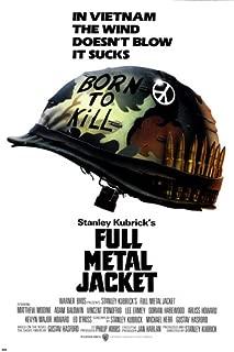 KUBRICK'S full metal JACKET movie poster VIETNAM war matthew MODINE 24X36 (reproduction, not an original)