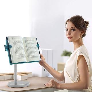 حامل للكتاب بدون استخدام اليدين من ال اس سهل الطي، حامل قابل لتعديل ارتفاع وزاوية القراءة للكتب ذات الغلاف السميك والغلاف ...