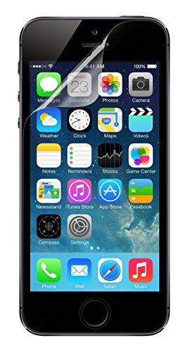 Belkin F8W179cw3 Transparent Screen Protector for iPhone SE/5 and 5s - Pack...