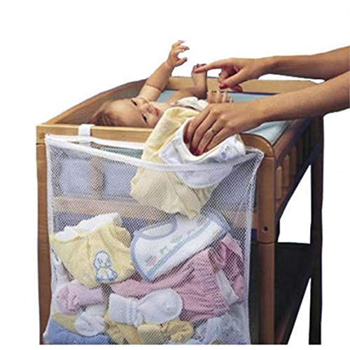 Bolsa para la ropa sucia de bebé para colgar en la cuna
