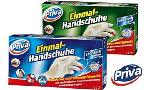 100 Stück - Einweghandschuhe - Latex-Handschuhe puderfrei, lebensmittelecht - Größe M